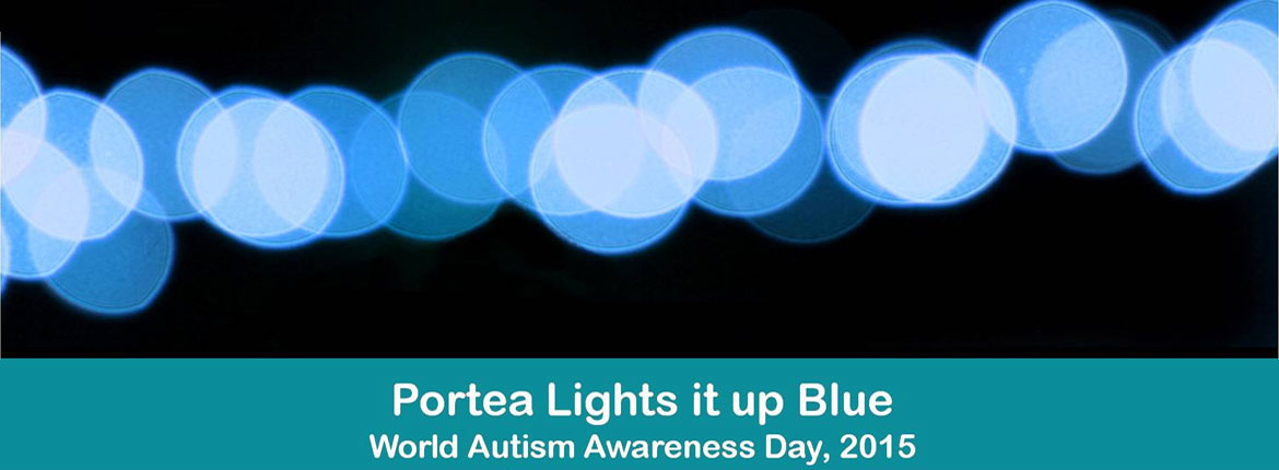 Portea Lights it up Blue